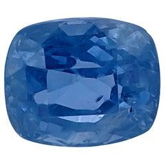 GIA Certified 7.02 Carat No Heat Blue Sapphire
