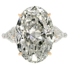 GIA Certified 7.02 Carat Oval Diamond Solitaire Ring Excellent Cut