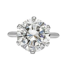 GIA Certified 7.03 Carat Round Diamond Solitaire Engagement Ring