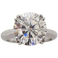 GIA Certified 4 Carat Round Brilliant Cut Diamond