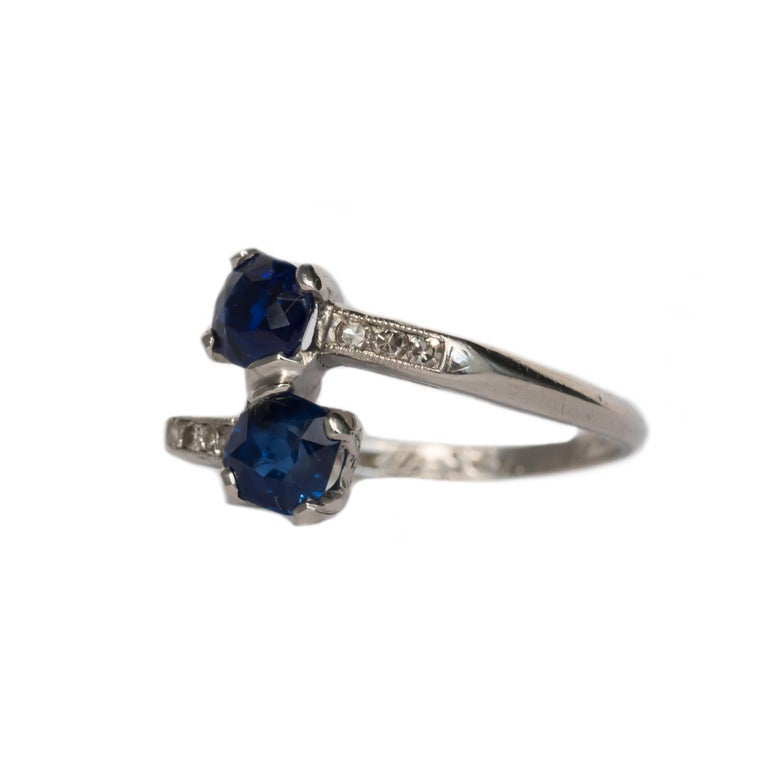 Ring Size: 6.50 Metal Type: Platinum Weight: 3.9 grams  Center Diamond Details GIA CERTIFIED Center Diamond - Certificate # 5201171087 Type: Natural Cambodia Sapphire  Shape: Octagonal Carat Weight: .71 carat Color: Blue   Color Stone Details: