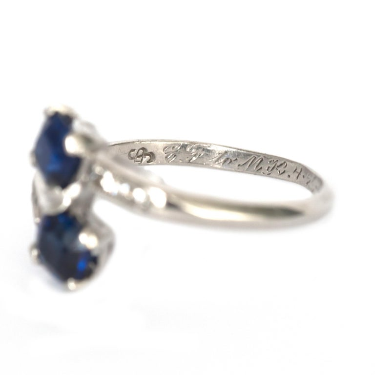 Women's or Men's GIA Certified .71 Carat Sapphire Platinum Engagement Ring For Sale