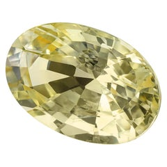 GIA Certified 7.16 Carat Unheated Yellow Sapphire Loose Gemstone