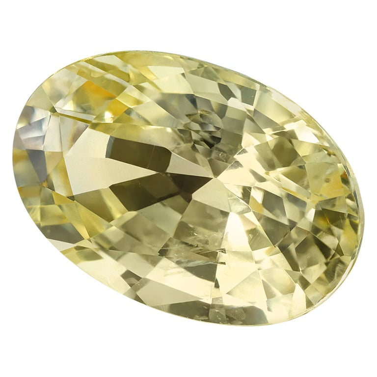 GIA Certified 7.16 Carat Unheated Yellow Sapphire Loose Gemstone For Sale
