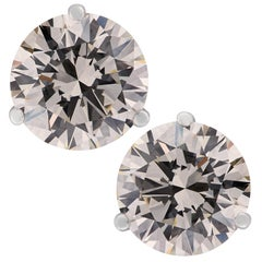 GIA Certified 7.19 Carat Diamond Stud Earrings