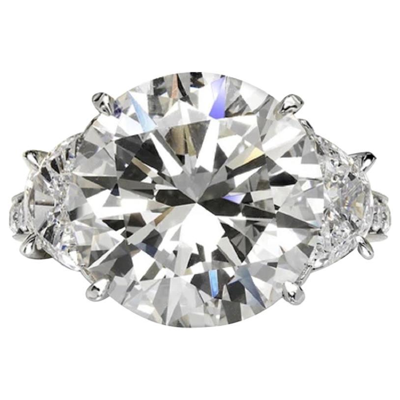 GIA Certified 7 Carat Round Brilliant Cut Solitaire Platinum Ring