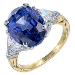 GIA Certified 7.22 Carat Tanzanite Diamond Platinum Engagement Ring