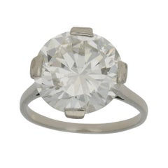 GIA Certified 7.49 Carat Diamond Cocktail Solitaire Ring