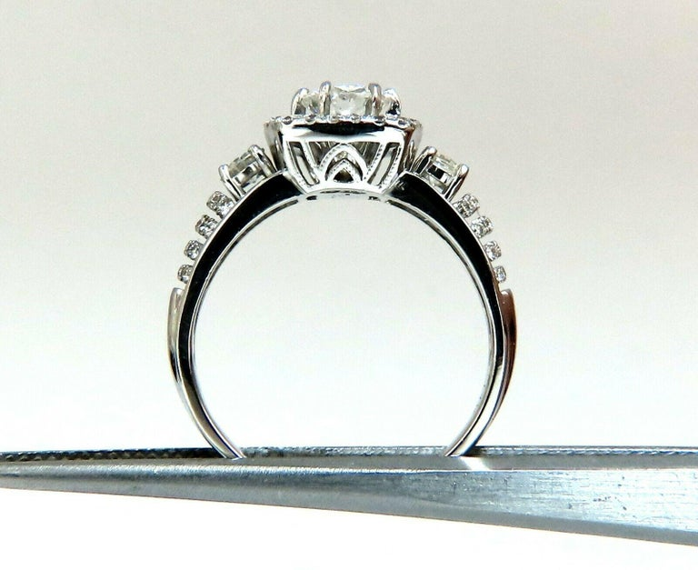 GIA Certified .74 Carat Round Cut Diamond and 1.00 Carat Ring 14 Karat and Band For Sale 3