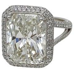 GIA Certified 7.50 Carat Diamond Ring in 18 Karat White Gold
