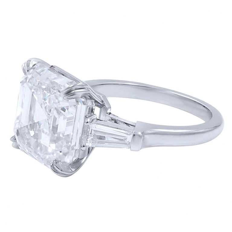 GIA Certified 5 Carat Asscher Cut Diamond Color F Clarity Internally Flawless Excellent Cut  Excellent Polish None Fluorescence Retail value $390,000 (includes appraisal for insurance purposes handmade in Italy in solid 18 carats white gold