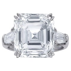EXCEPTIONAL FLAWESS GIA Certified 5 Carat Asscher Cut Diamond Solitaire Ring