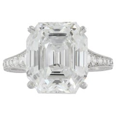 GIA Certified 7.51 Carat F VS1 Asscher Cut Engagement Ring