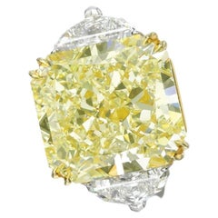 GIA Certified 8 Carat Fancy Yellow Diamond Ring VS1 Clarity