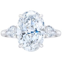 GIA Certified 5 Carat E Color VS2 Clarity Oval Diamond Ring
