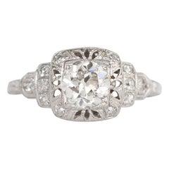 GIA Certified .80 Carat Diamond Platinum Engagement Ring