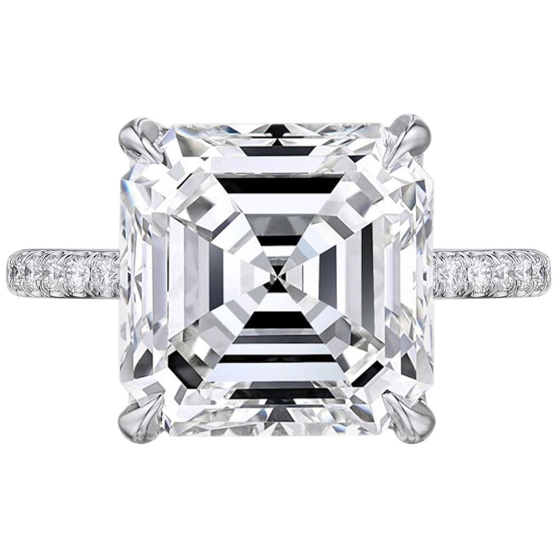 GIA Certified 8.75 Carat Square Emerald Cut Diamond VVS2 Clarity H Color