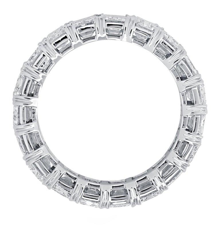 Modern Vivid Diamonds GIA Certified 8.06 Carat Diamond Eternity Band For Sale