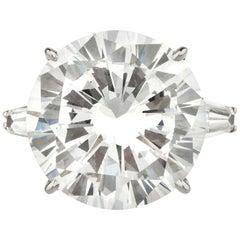 GIA Certified 8.16 Carat Round Brilliant Cut Diamond Ring