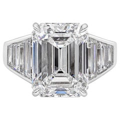 Roman Malakov, GIA Certified 8.35 Carat Emerald Cut Diamond Engagement Ring