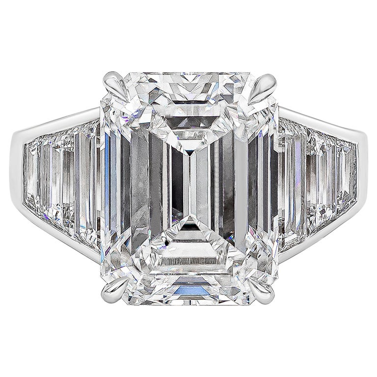Roman Malakov, GIA Certified 8.35 Carat Emerald Cut Diamond Engagement Ring For Sale