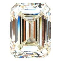 GIA Certified 8.41ct Natural Emerald Cut Diamond Trapezoid Ring Platinum Prime