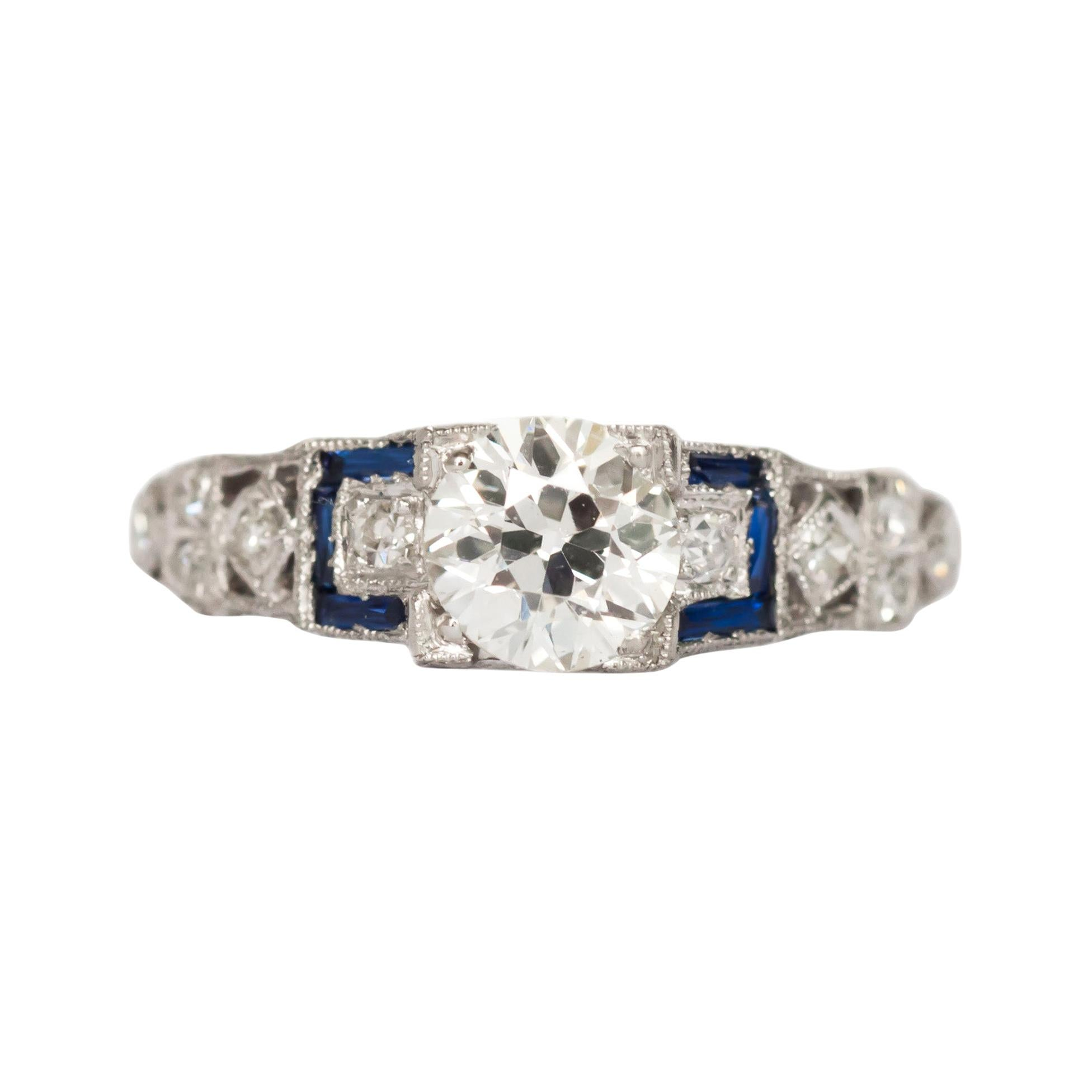 GIA Certified .85 Carat Diamond Platinum Engagement Ring