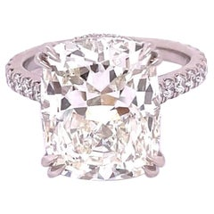GIA Certified 8.58 Carat Cushion Shape Diamond Engagement Ring