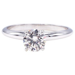 GIA Certified .90 Carat Round I IF Diamond Solitaire Engagement Ring