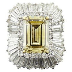 GIA Certified 9.01 Carat Fancy Brownish Yellow Diamond Cocktail Ring