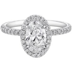 GIA Certified .91 Carat Oval Diamond Engagement Ring