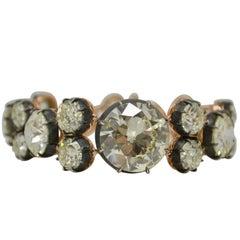 GIA Certified 92.23 Carat Old Cut Antique Style Diamond Bracelet