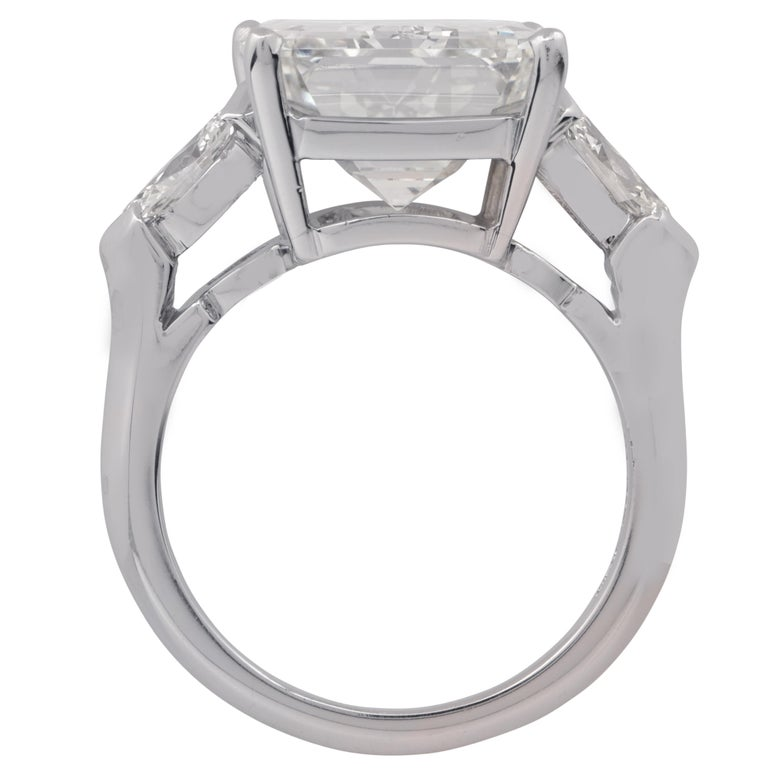Modern GIA Certified 9.29 Carat Emerald Cut Engagement Ring For Sale