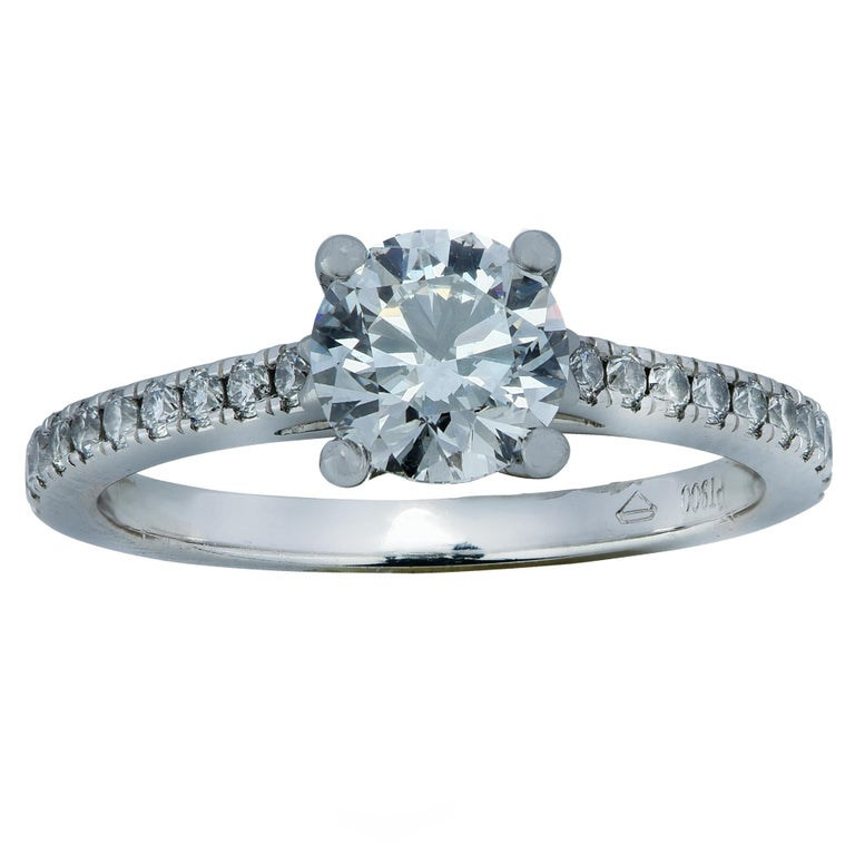 Modern GIA Certified .98 Carat Diamond Engagement Ring For Sale