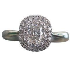GIA Certified, A. Jaffe Cushion Cut Diamond Engagement Ring