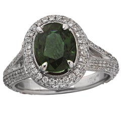 GIA Certified Alexandrite and Diamond Ring