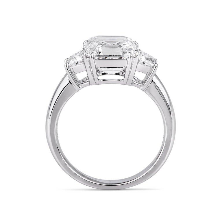 GIA Certified Asher Cut Diamond Ring 3.58 Carat In Excellent Condition For Sale In Knightsbridge, GB