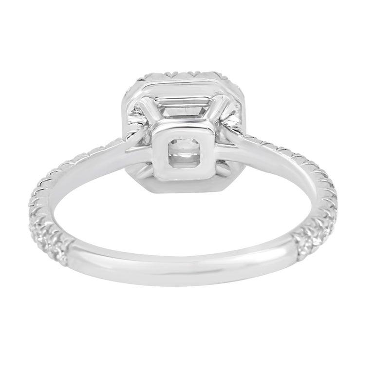 Asscher Cut Diamond Engagement Ring in Platinum - Bridal