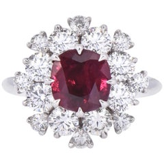 Laviere GIA Certified Burmese Ruby and Diamond Cocktail Ring