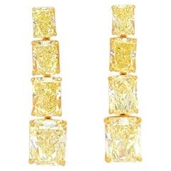 GIA Certified Canary Earrings