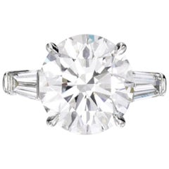 GIA Certified Carat Round Brilliant Cut Platinum Ring