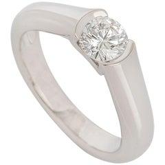 GIA Certified Cartier C de Cartier Platinum Diamond Ring 0.54 Carat