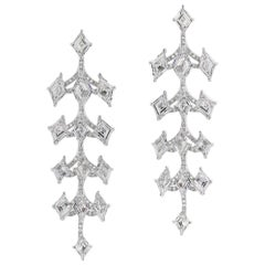 Takat 11.25Ct Chandelier Diamond Earring In Platinum,Each Stone Is GIA Certified