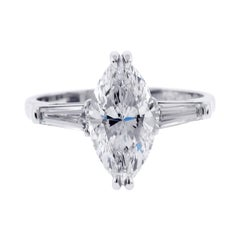 G.I.A. Certified Classic Marquise Diamond Ring