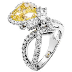 GIA Certified Cocktail Ring with 5.02 Carat Fancy Heart Shape Brilliant