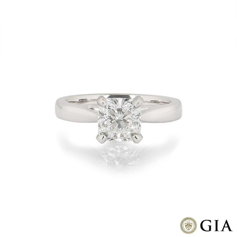 GIA Certified Cushion Cut Diamond Engagement Ring 1.70 Carat F/VS1 In New Condition For Sale In London, GB