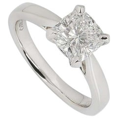 GIA Certified Cushion Cut Diamond Engagement Ring 1.70 Carat F/VS1
