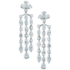 GIA Certified Diamond Chandelier Earrings