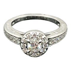 GIA Certified Diamond Engagement Ring 0.41 Carat 14 Karat White Gold
