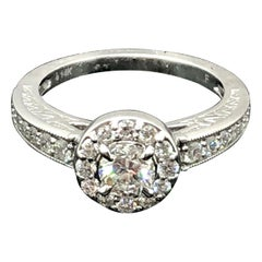 GIA Certified Diamond Engagement Ring 0.43 Carat 14 Karat White Gold